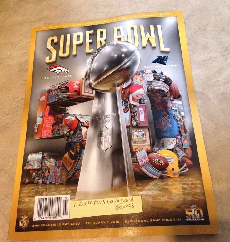 Super Bowl 50 L Official Program 2016 Denver #Denver Panthers Shipped In A Box from $11.95