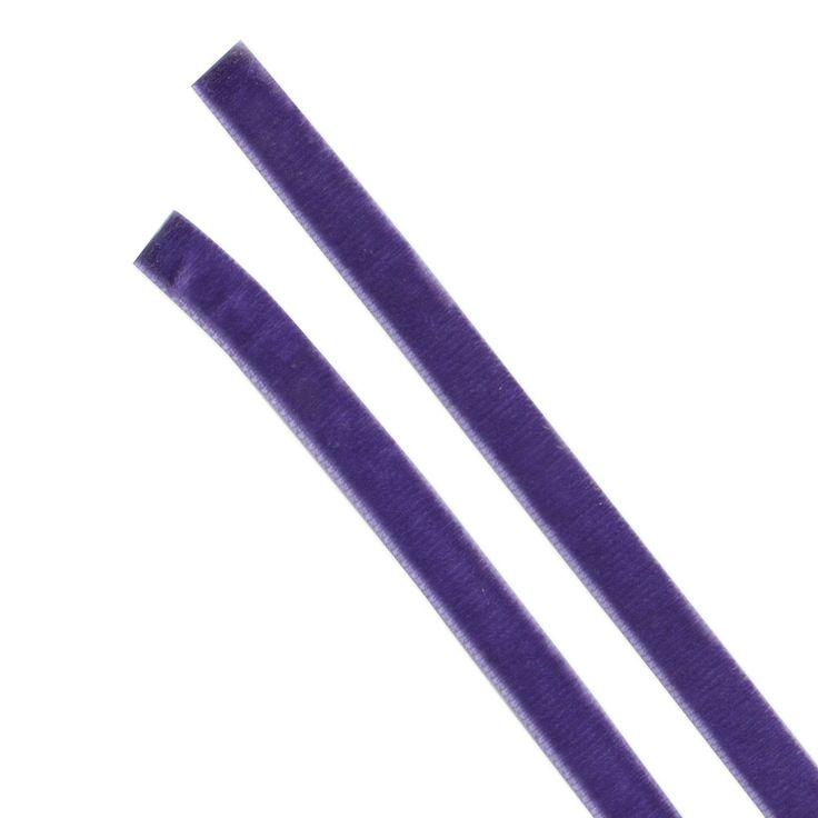 NASTRO VELLUTO VIOLA N11 - Spessore 1,0 cm - Lunghezza 30 cm - Materiale Velluto - Trattamento anti-sfilacciamento bordi. Particolarmente indicato per Ballerine NERO E MARE €3,50 paio