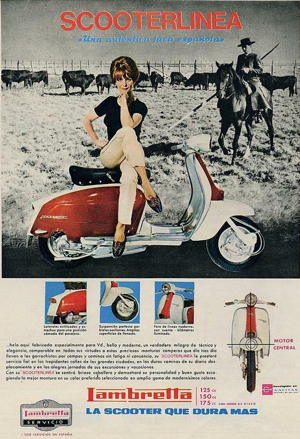 Scooter Lambretta. Año 1965
