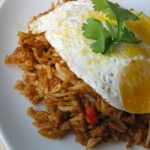 I had this version of fried rice in Java. It is usually served in a folded banana leaf packed so it can be opened and eaten with your fingers. it is also served with a fried egg on top. Heat peanut oil in a wok or large saute pan with a cover, Add the onion, […]