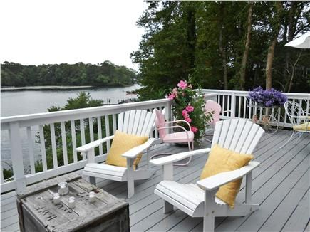 Anyone want to join me on this deck overlooking Lake Wequaquet in Centerville on Cape Cod?
