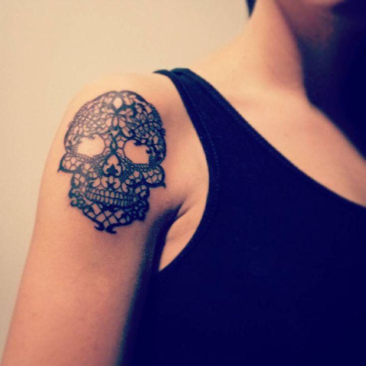 Work in progress, part 1 #inked #lace #skull@tattoo.pijkie
