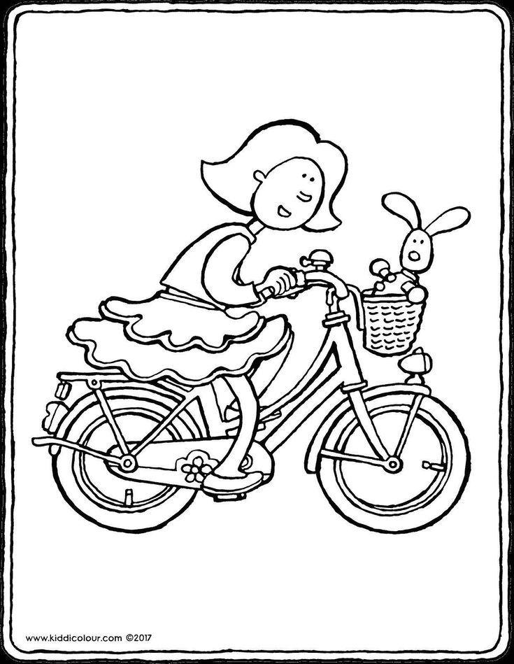 malvorlage fahrrad einfach  tiffanylovesbooks