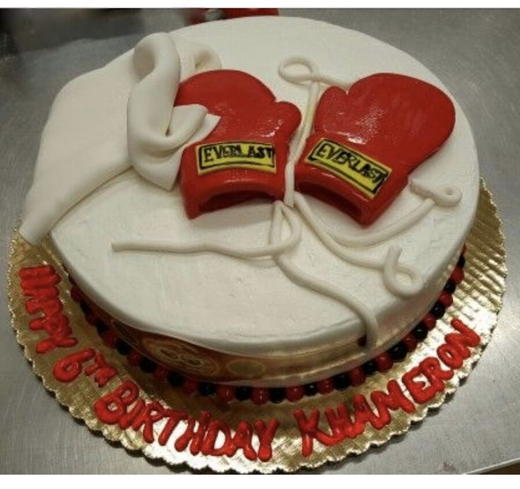 Calumet Bakery Fondant Boxing Gloves Cake