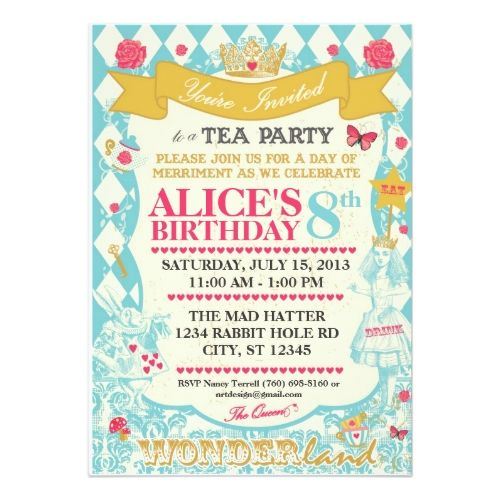241 best Tea Party Birthday Party Invitations images – Invitations to a Tea Party