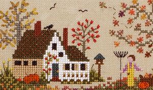 The Victoria Sampler - Pumpkin Patch Farm. I love cross-stitching. I have great memories of my Gramm doing it a lot when I would visit.