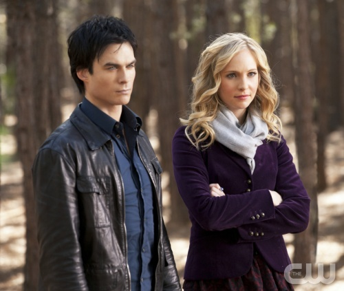 """The Murder of One""--LtoR: Ian Somerhalder as Damon and Candice Accola as Caroline on THE VAMIPIRE DIARIES on The CW. Photo: Bob Mahoney/The CW ©2012 The CW Network. All Rights Reserved."