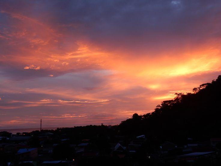 Sunset over Quepos, Costa Rica
