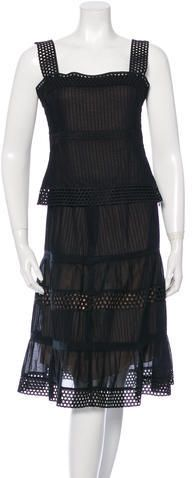 Akris Punto Crochet Trim Skirt Suit