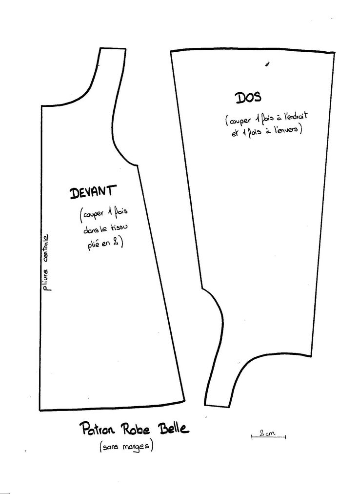 Dress pattern for Disney Animator Doll