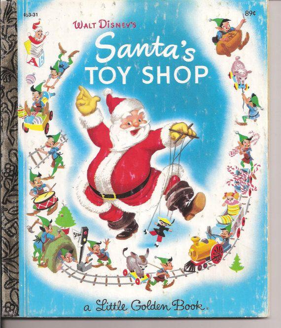 Vintage Little Golden Book Santas Toy SHop by MuddyRiverAntiques, , Etsy
