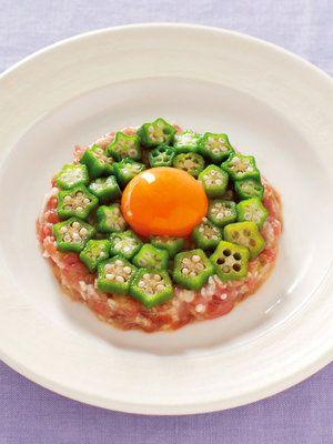 【ELLE a table】まぐろと長芋・オクラのタルタルレシピ