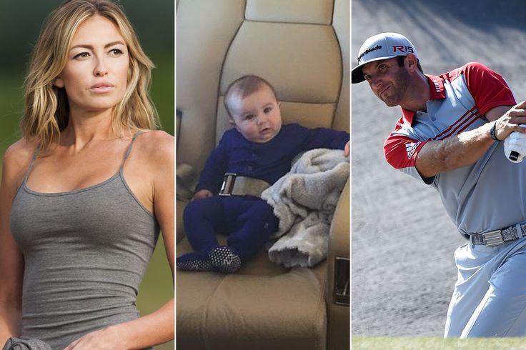 Move over, Riley Curry. Meet the cute son of Dustin Johnson, Paulina Gretzky. Dustin Johnson  #DustinJohnson