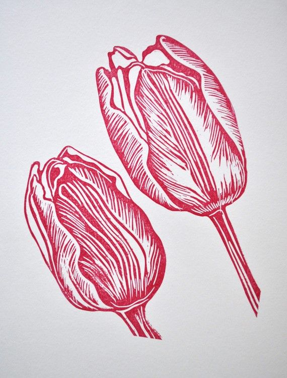 Hey, I found this really awesome Etsy listing at https://www.etsy.com/listing/55768353/tulip-original-art-lino-print-uk