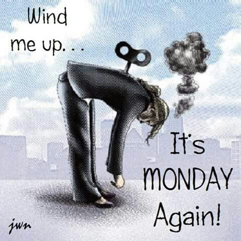It's Monday already?  ...Busy week-end in the yard and it feels like it this morning !!!!!  Ugh !!  LOL  hugs xxxx                                                     …
