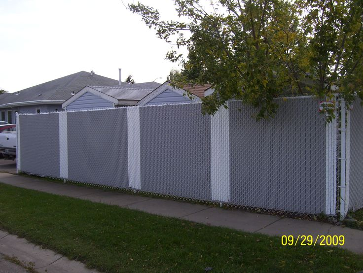 Privacy Slats Chain Link Fence Get Rid Of Ugly Fences