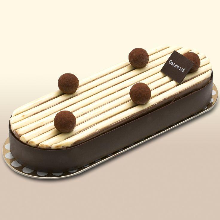 Tarte glacée tradition chocolat - Croustillant chocolat lait, glaces vanille et chocolat noir, parfait vanille et mousse chocolat au Rhum.