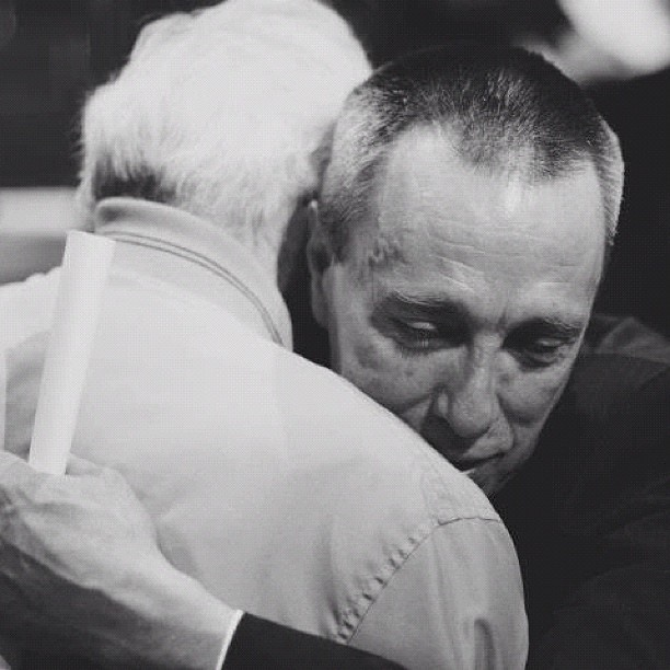 Recovery graduate and HM donor embrace at our 2012 spring banquet. #yeg #hope #instagram