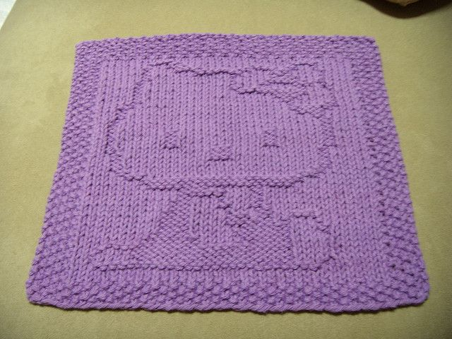 Knitted Dishcloth Patterns For Easter : 1000+ images about knitting patterns - for the kitchen on Pinterest Dishclo...