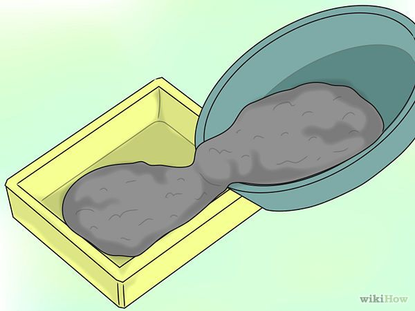 How to make your own cement pavers.