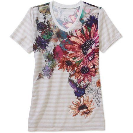 White Stag Women's Short Sleeve Floral Tee