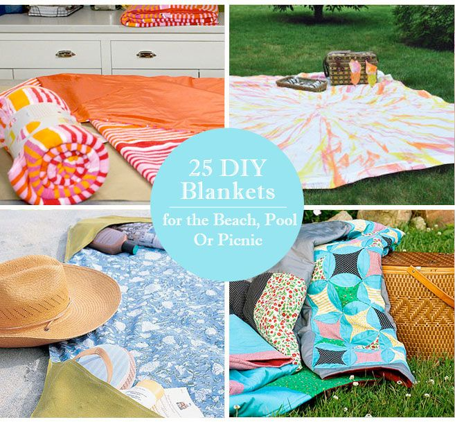 Beach Blanket Experiment: 25 DIY Blankets For The Beach, Pool Or Picnic