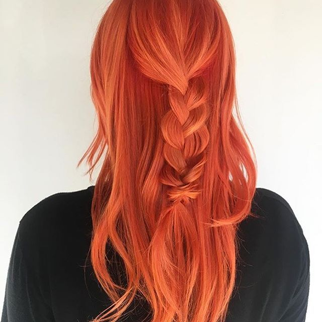 Cupid, Fireball, and Lemon... @hairchameleon from @butterflyloftsalon is the artist... Pulp Riot is the paint.