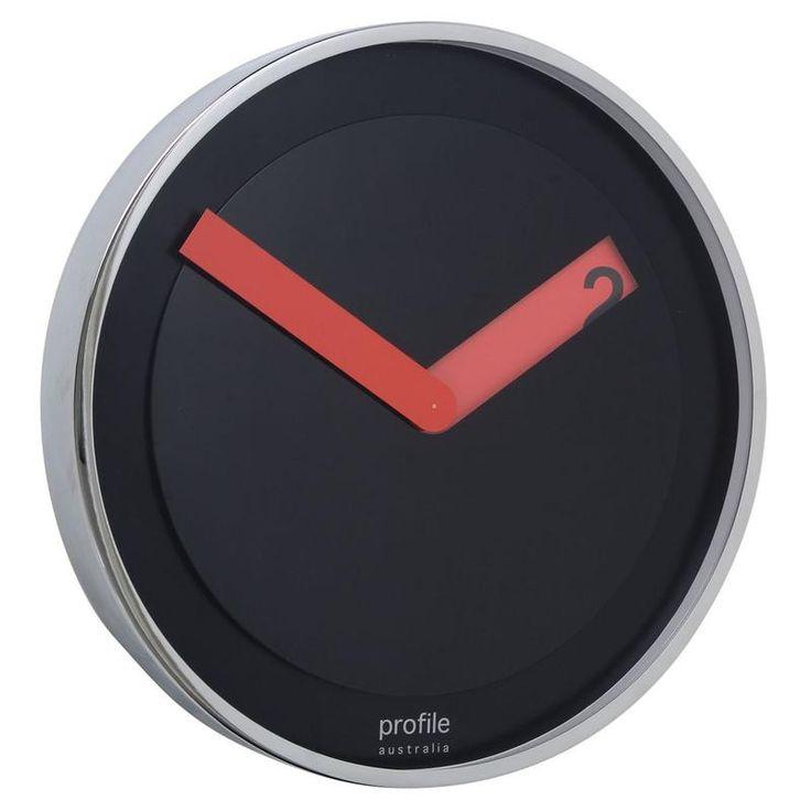 Buy Profile Barcelona Wall Clock Black 30cm Online - Oh Clocks