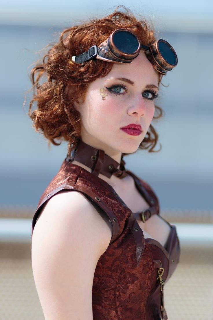 steampunk hairstyles for short hair red - Google Search