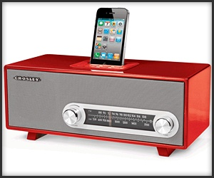 crosley ranchero retro iphone radio playing your beats old schoolstyle technabob ipod dock