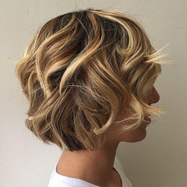 Curly+Layered+Brown+Blonde+Bob  This is so precious!!