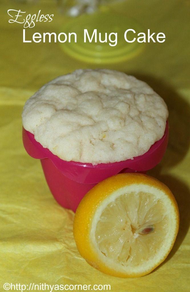 Lemon Mug Cake, Eggless Lemon Mug Cake Recipe