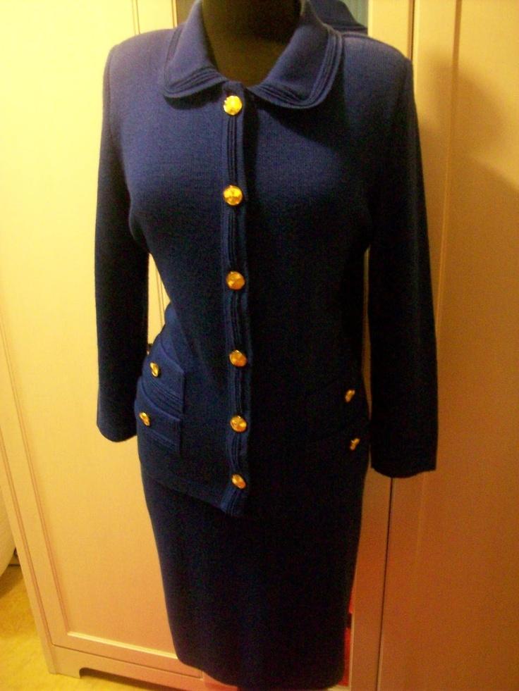 Vintage Knit St. John-like two Piece Suit. $60.00, via Etsy.