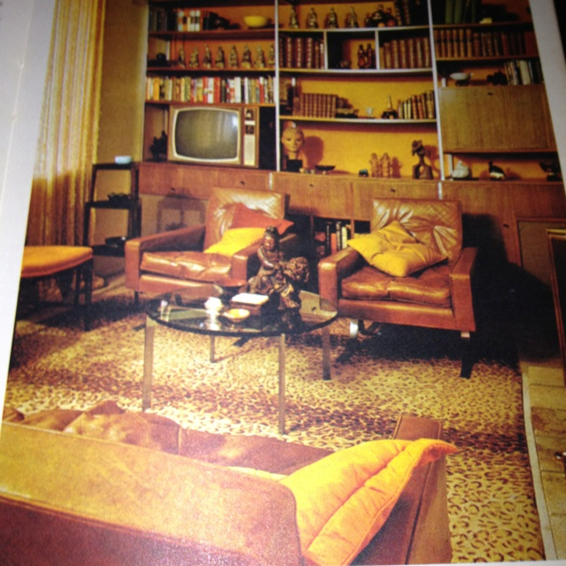 No, not my loungeroom... but it was the height of fashionable interior decoration in 1970's Australia.