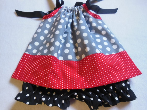 Pillowcase Dress Ohio State Theme by cupcakesandponytails on Etsy, $16.99