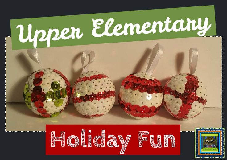 Lesson Deli: Upper Elementary Holiday Fun--Sequin Ornament Parent Gifts--Teach perseverance with this fun Christmas craft for 5th and 6th grade students.  It makes a great parent gift!