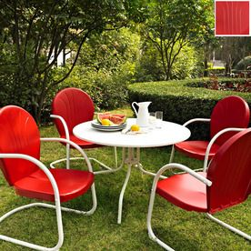 Crosley Furniture�4-Piece Mesh Seat Steel Patio Dining Set