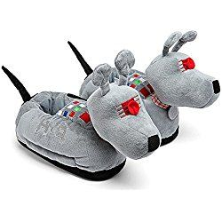 Doctor Who Adult K-9 Dog Slippers (Grey, S/M)
