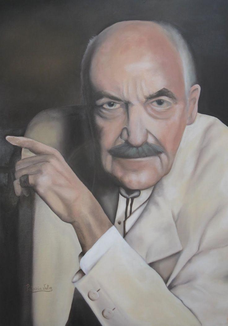 "Artista Patricia Valor ""homenaje a Rene"" oleo 50 x 70 cm"