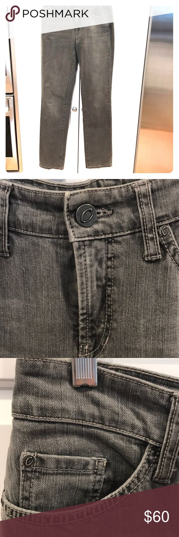 Cambio jeans. Grey stretch.Norah super slim 8 Cambio Jeans. Norah super slim 5 pocket stretch.   Embellished  back pockets. Never worn. Grey. Size 8 Cambio Jeans Jeans Skinny