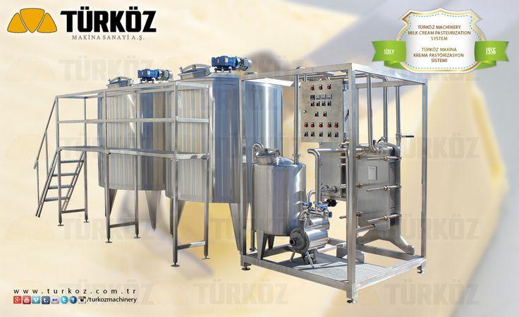 Türköz Machinery Milk Cream Pasteurization System - Türköz Makina Krema Pastörizasyon Sistemi. #milk #cream #pasteurizer #cheese #kashkavall #kashkaval #cheddar #curd #balkan #peynir #krema #yogurt #yoghurt #sütkremi #sutkremi #pastorizasyon #unitesi #depolama #tankları #tanklari #tank www.turkoz.com.tr
