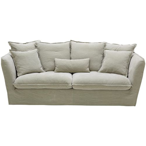 Canapé déhoussable en lin Paros Hanjel beige