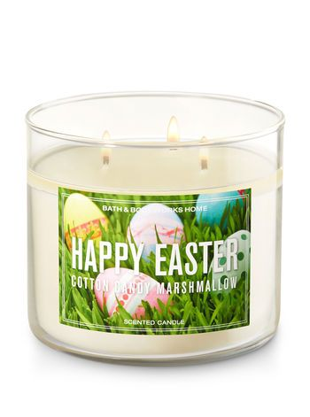 Happy Easter Cotton Candy Marshmallow 3-Wick Candle - Bath And Body Works
