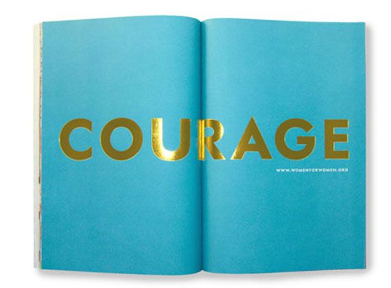 Love it.: Books, Colors Combos, Inspiration, Quotes, Gold Foil, Courage, Typography, Kate Spade, Katespade