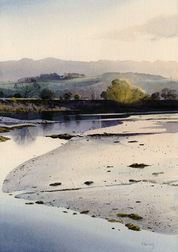 'Llyn Bach', watercolour by Rob Piercy, Lakes and Rivers. Wales, Snowdonia, Porthmadog