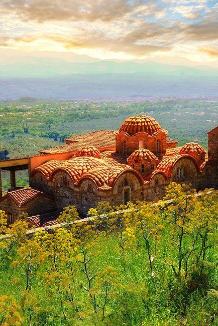 Byzantine Metropolis Church , Mystras , Sparta, the Peloponnese, Greece.