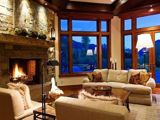 Fireplace ranch style home with modern luxury design Luxury fireplaces luxury homes
