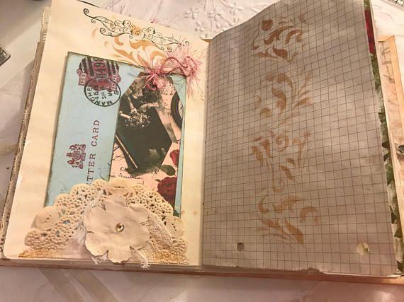 Handmade Hard Cover precious moments vintage journal
