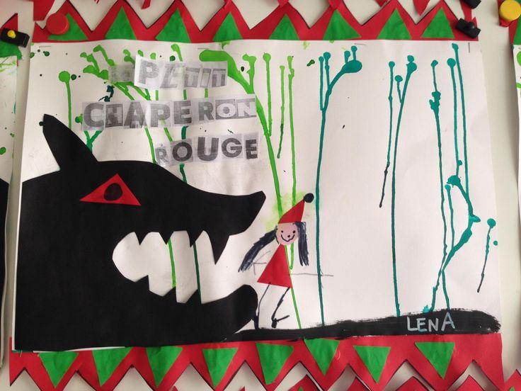 art visuel maternelle Le petit chaperon rouge d'après Isabelle Anglade