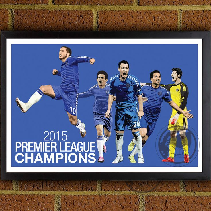 Chelsea BPL Champions Poster - Chelsea FC - Chelsea Soccer Poster- 8x10, 13x19, poster, art, wall decor, home decor, premier league by Graphics17 on Etsy